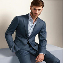 Tailor Made men suit slim fit formal business occasions suits Fashion wedding prom party tuxedos Suits(jacket+pants)