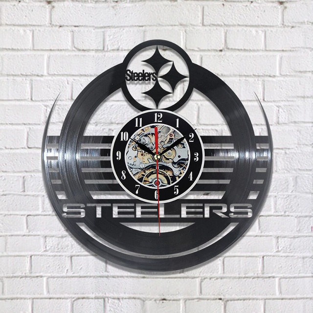 New CD Vinyl Record Wall Clock Modern Steeler Wall Watch Home Decor Classic Clock Relogio Parede