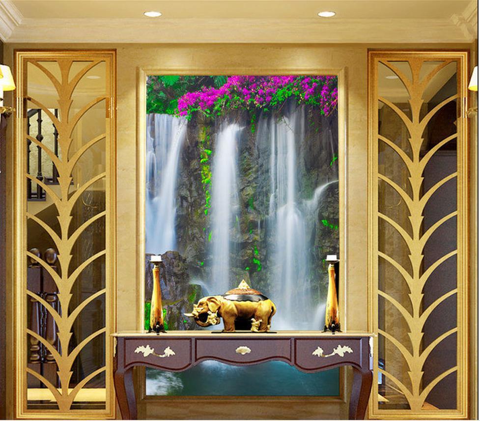 online get cheap wallpaper hallway murals landscape aliexpress 3d wall murals wallpaper landscape waterfall entrance hallway mural photo mural wallpaper home decoration china