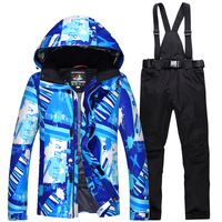 Super Warm and Comfortable Ski Suit Sets Waterproof Windproof Breathable Climbing Mountain Winter Outdoor Snowboarding Ski Suit