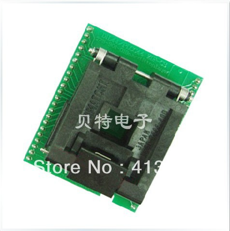 Import convert burn IC DIL44/PLCC44-ZIF-CS test socket adapter original plcc44 to dip40 block adapter block cnv plcc mpu51 test convert burn
