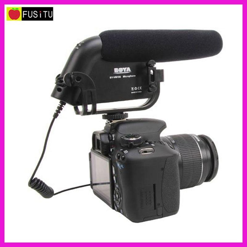 купить BOYA BY-VM190 BY-VM190P Super-Cardioid Condenser Shotgun Microphone for Canon Nikon Sony DSLR Cameras