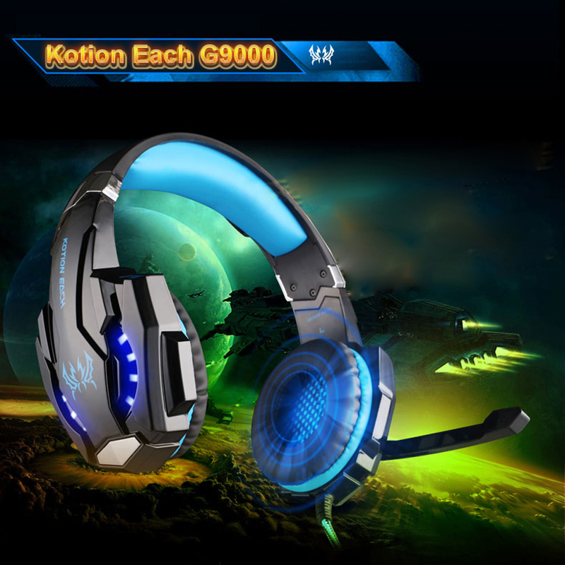 ФОТО 3 Colors USB 7.1 Surround Sound Version Game Gaming Headphone Computer Headset Earphone Headband with Microphone LED Light L3EF