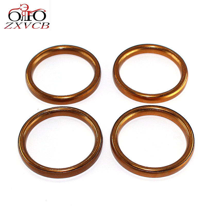 4PCS for SUZUKI DR650S Dual Sport 1996 1997 1998 1999 2010 1011 cylindre exhaust pipe header gasket ring <font><b>parts</b></font> image