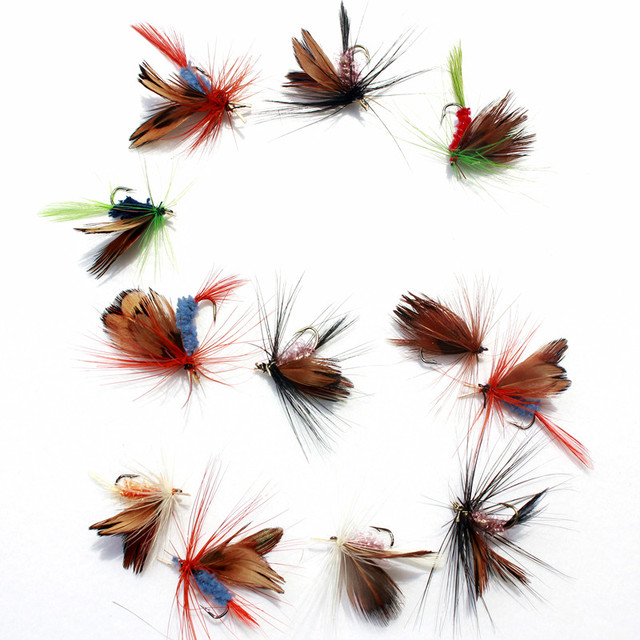 36pcs Fishing Lure Butter fly Insects different Style Salmon Flies Trout Single Dry Fly Fishing Lures Fishing Tackle 3