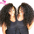 Natural Color Virgin Brazilian Curly Lace Front Wigs Side Parting 150 Density Human Hair Curly Wig