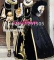 Lujo vestido de carnaval de venecia/mens traje medieval reina vestido renacentista dress victorian/marie antonieta/colonial belle