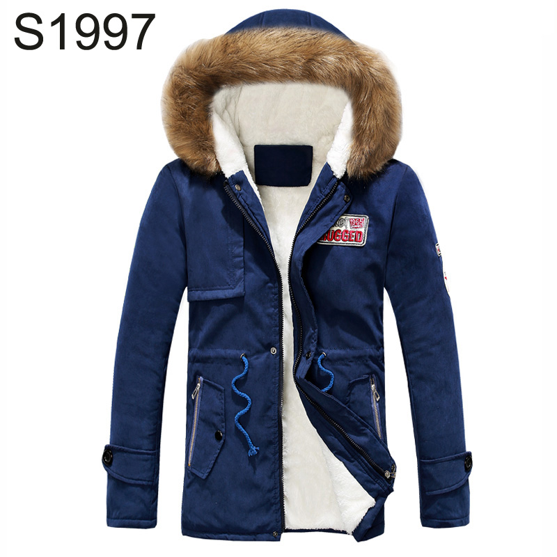 Подробнее о S1997 Brand Jacket Winter Men Warm Thick Fleece Coats Fur Collar Hooded Windbreaker Outwear Parka High Quality Plus Size S-4XL winter jacket men coats thick warm casual fur collar winter windproof hooded outwear men outwear parkas brand new