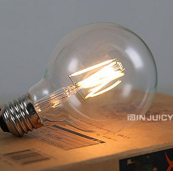 ¡Novedad! bombilla de filamento Retro G125 LED 4W E27, rosca Edison blanco cálido antiguo fasionado RH LOFT