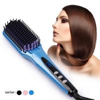 Digital Ceramic Fast Hair Straightener Brush Comb Electric Straightening Irons curler Hair Styling Tools
