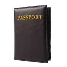 Solid Passport Cover Gray Coffee Special Vintage Design Card Holder Passport Holder Men Women Travel Wallets — BID012 PM49
