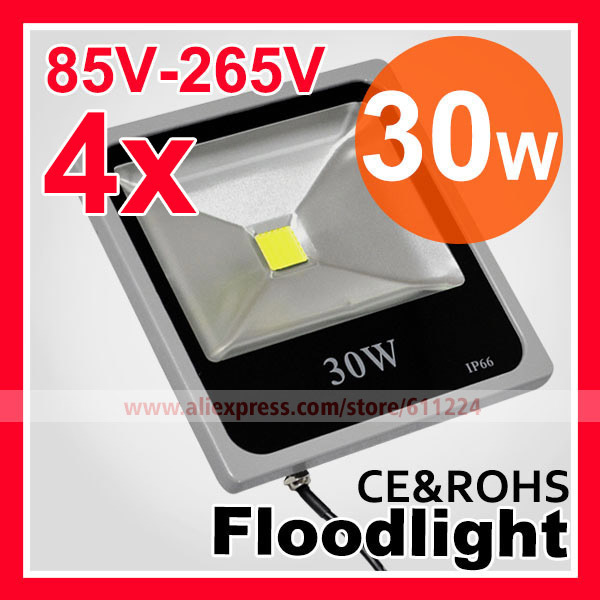 ultrathin 30W LED Flood Light IP66 Waterproof 85-265V 3000LM COB Power 10W 20W 50W  Floodlight Outdoor  Lamp Free Shipping