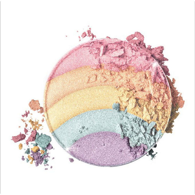 Beauty & Health Spirited 5 Colors Rainbow Unicorn Luminous Powdery Cake Rainbow High Gloss Fairy Tale Eyeshadow Products Are Sold Without Limitations