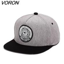 8a72c90965d VORON Classic 5 panels cotton snapback 3d god eyes baseball cap cap for men  women
