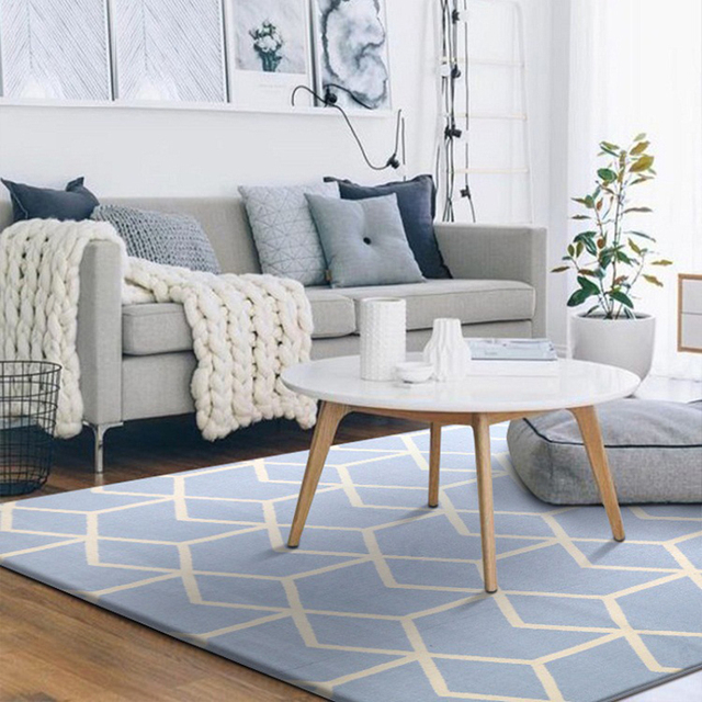 3 sizes Geometric Pattern Nordic Carpet For Living Room Area Rug ...
