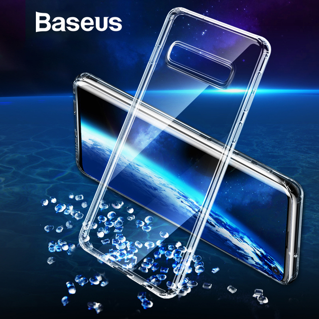 Baseus Samsung Galaxy S10 S10 Plus Ultra Thin Transparent Soft Silicone Back Case Cover