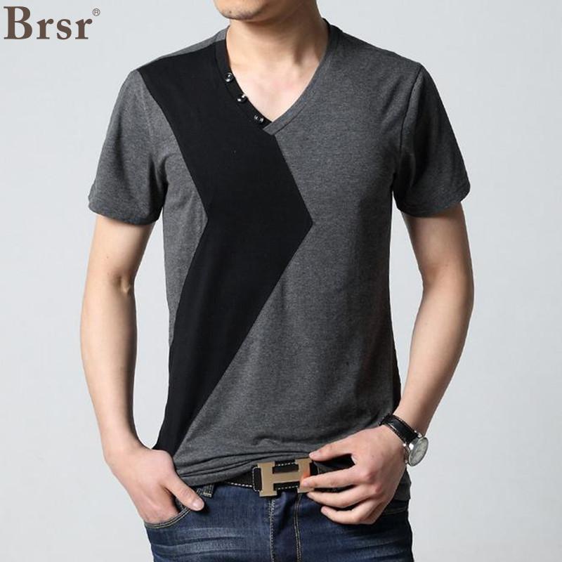 6 Design Herre T-skjorte Slim Fit Crew Neck T-skjorte Herre - Herreklær - Bilde 3