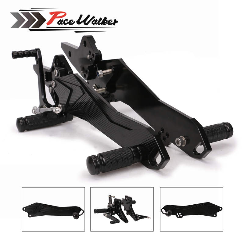 CNC Motorcycle Footrest Adjustable Motor Rearset Rear Set Foot Pegs For Kawasaki Z800 2013 2014 2015