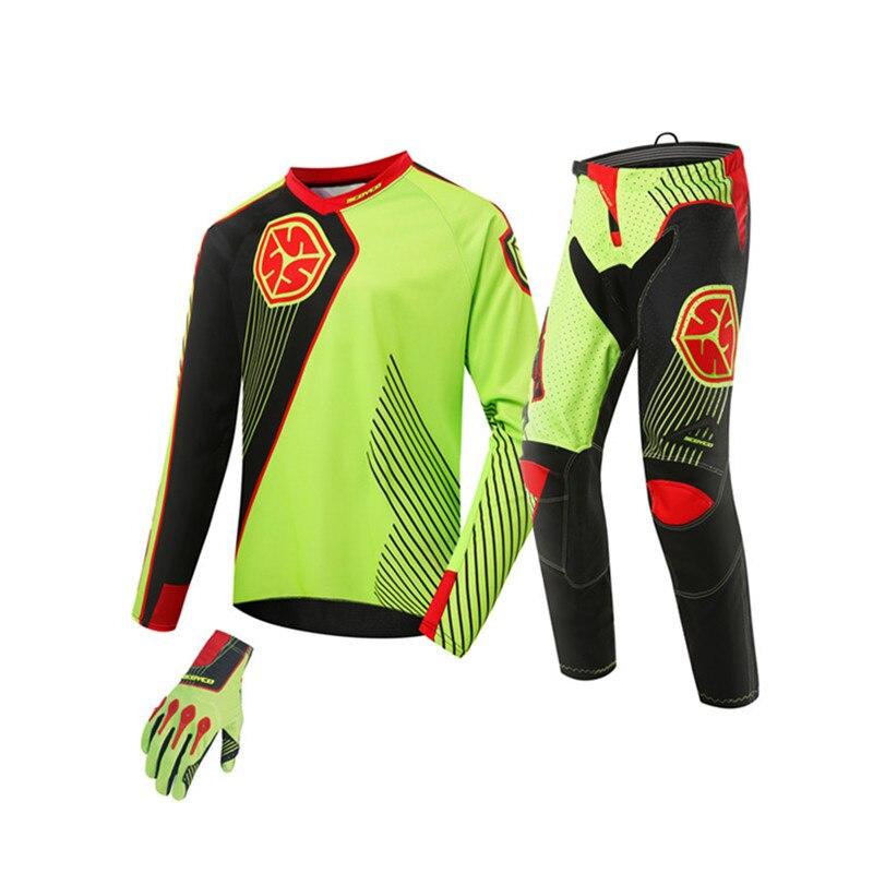 Weitere Sportarten Bekleidung Motocross Pants Jersey Gloves Set