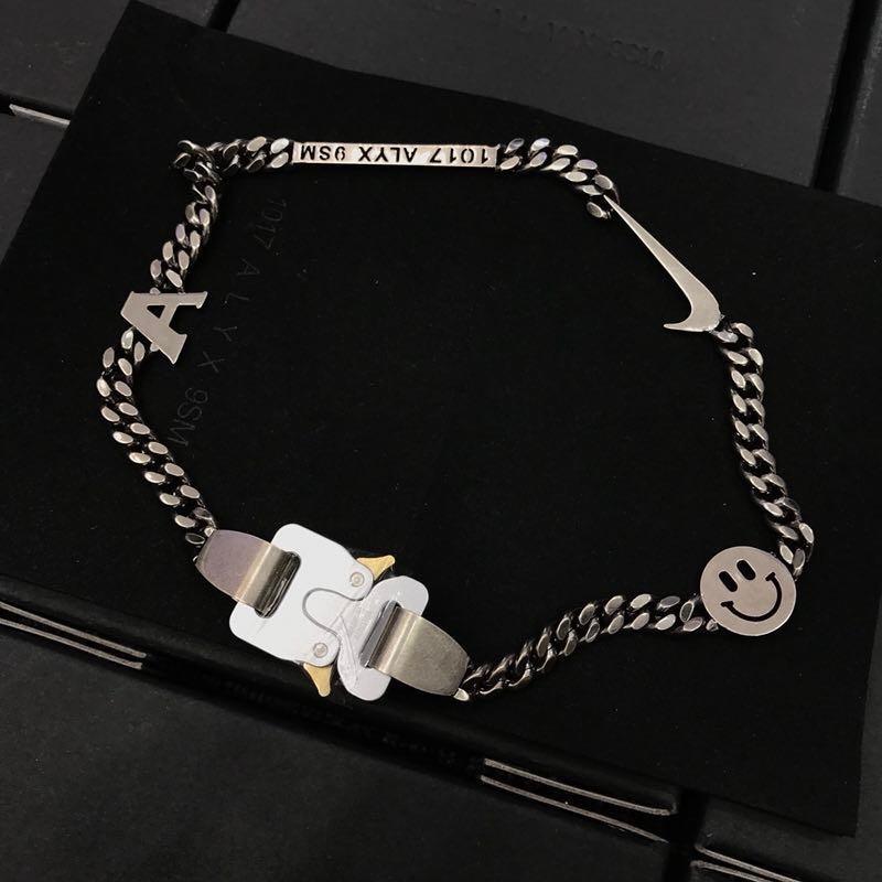 2019 1017 ALYX STUDIO LOGO chaîne en métal collier Bracelet ceintures hommes femmes Hip Hop extérieur rue accessoires Festival cadeaux - 6