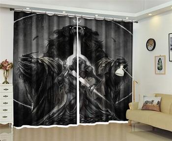 European Blackout Curtains Halloween Monster Pumpkin lantern 3D Window Curtain For The Living room Bedroom Photo Drapes