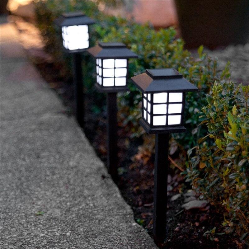 Feimefeiyou 2pcs/lot Chinese Eastern Lantern Style Waterproof LED Solar Landscape Light Garden Lawn Yard Park Square Decoration