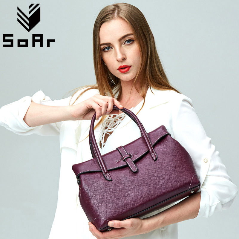 SoAr First Layer Cow Leather Luxury Handbags Women Bags Designer Female Messenger Shoulder Bag Ladies Genuine Leather Sac A Main new women genuine leather handbags shoulder bag oil wax cow leather tote bags female vintage handbags sac a main ladies hand bag