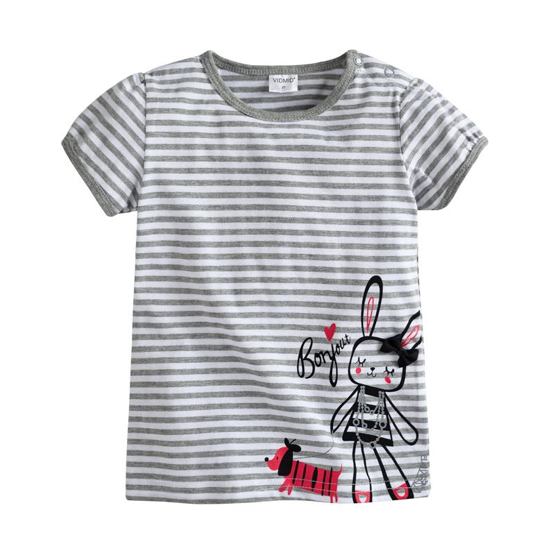 HTB1cQaUazgy uJjSZKPq6yGlFXay - VIDMID baby Girl t-shirt big Girls tees t shirts children blouse t-shirts super quality kids summer clothes rabbit pink brand