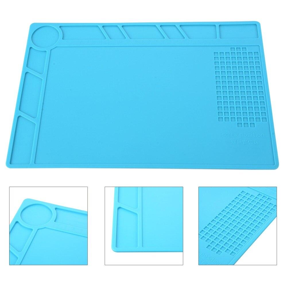 34x23 cm Anti Statische Wärmedämmung Schreibtisch Matte Silikon Pad Magnetische Abschnitt BGA Löten Reparatur Werkzeuge Wartung Plattform matte