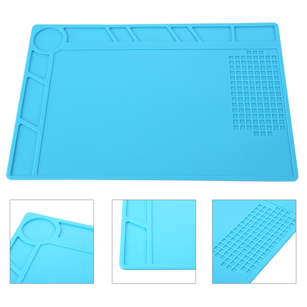 1x Anti Static ESD Silicone Heat Insulation Mat Soldering Repair Maintenance US