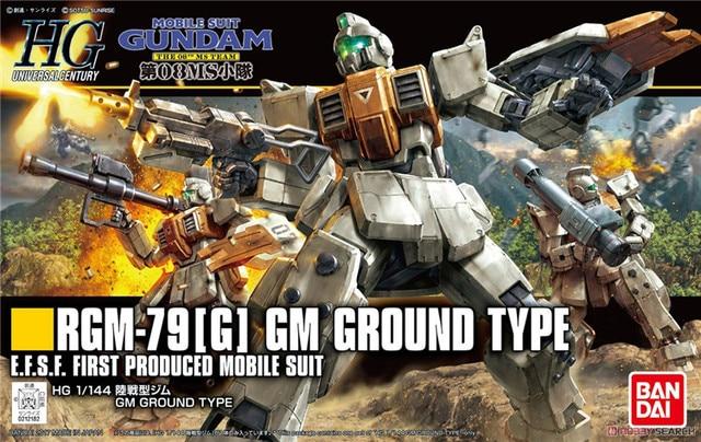 Bandai Gundam HGUC 1/144 RGM 79 [G] GM Boden Typ Mobile Anzug Montieren Modell Kits Action figuren Kunststoff Modell