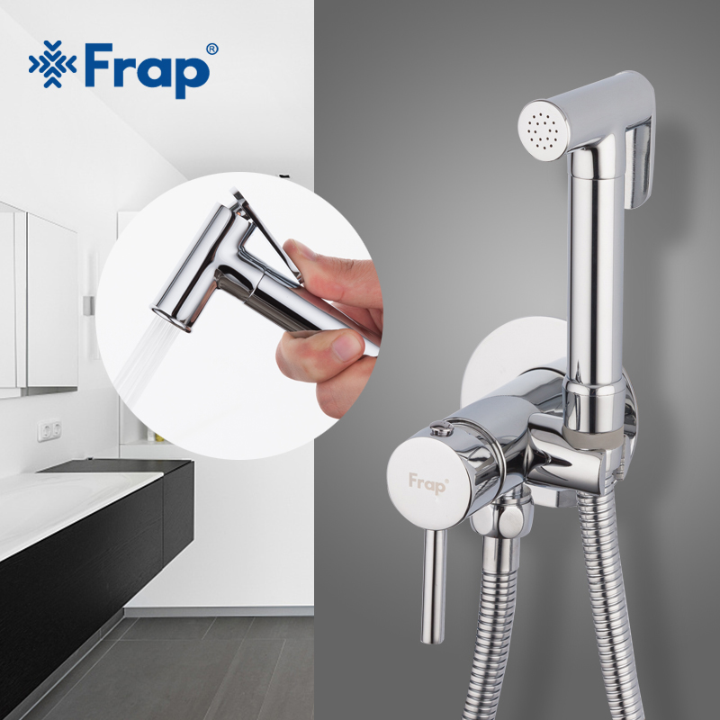 Frap Bidet Faucets Brass Bathroom Shower Tap Bidet Toilet Sprayer Toilet Washer Mixer Muslim Shower Ducha Higienica F7505-2