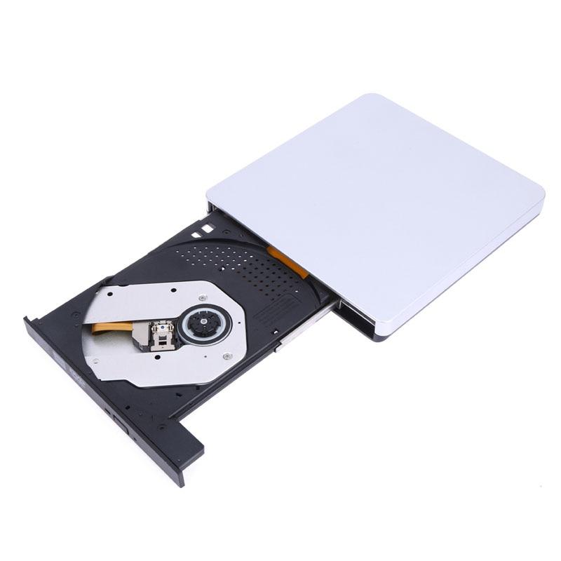 USB 3.0 Optical Drive DVD-RW Burner Player External CD/DVD-ROM Recorder Superdr for Laptop Computer Apple imacbook Windows10/98
