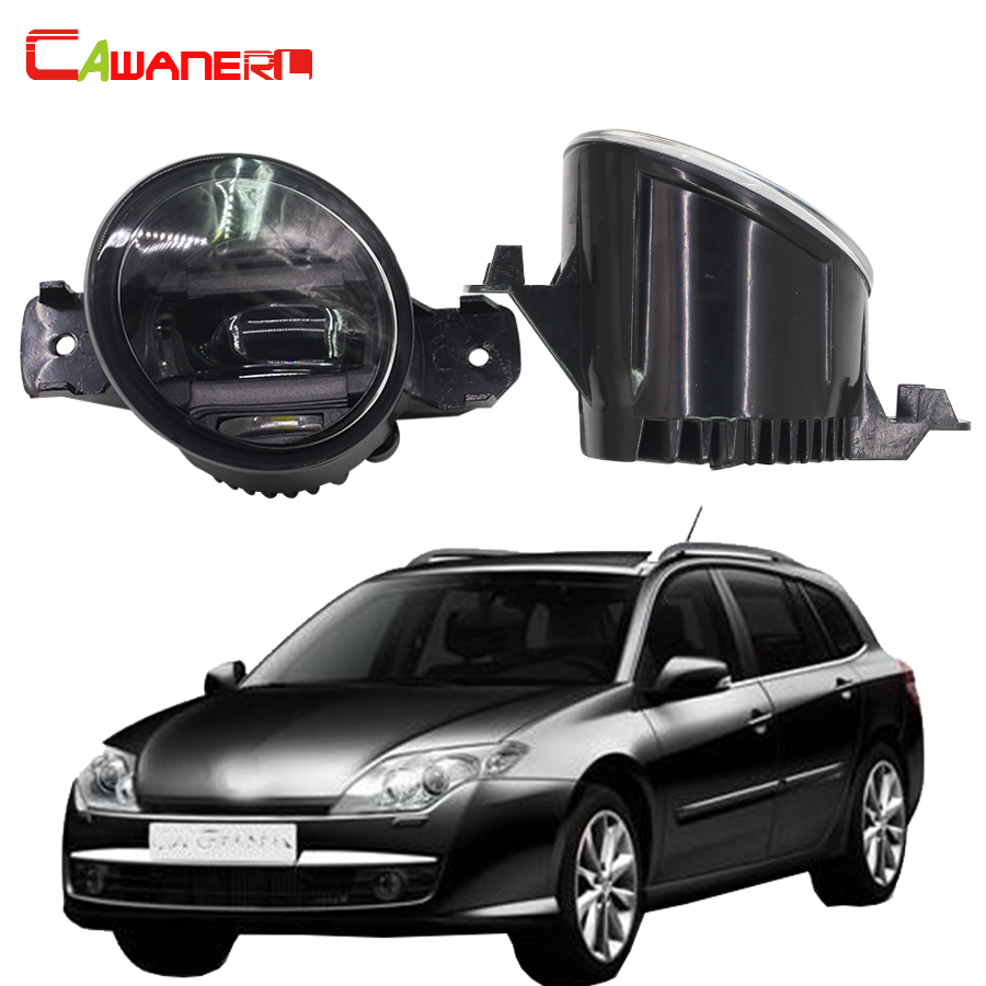 Cawanerl 1 Pair Car LED Fog Light Daytime Running Lamp DRL White Styling 12V For Renault Laguna II (BG0/1_) Hatchback 2001-2012 for renault laguna 2 ii grandtour kg0 1