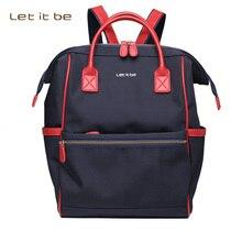 2017 mochila impermeable mochila de nylon ocasional de las mujeres bolsa de la escuela mochilas escolares para adolescentes lavable let it be marca mochila