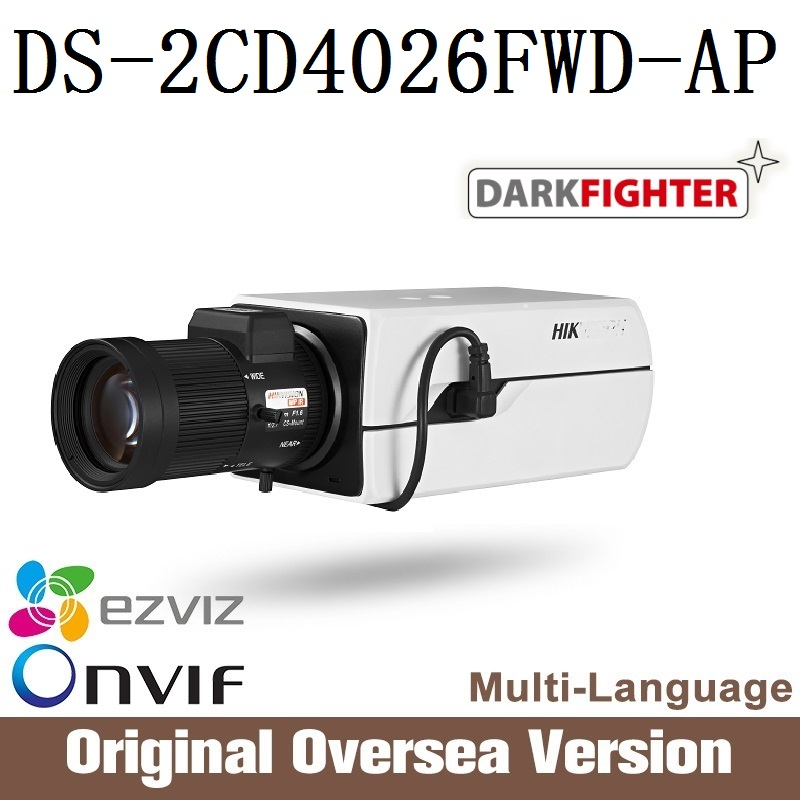 HIK  IP camera DS-2CD4026FWD-AP Ultra-low light 128GB ONVIF RJ45 Intrusion detection Face detection recognition recent advances in intrusion detection