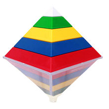 3D Puzzle Diamond Speed Cube Creative Education Toys Charm Of Geometry Pyramid(China)