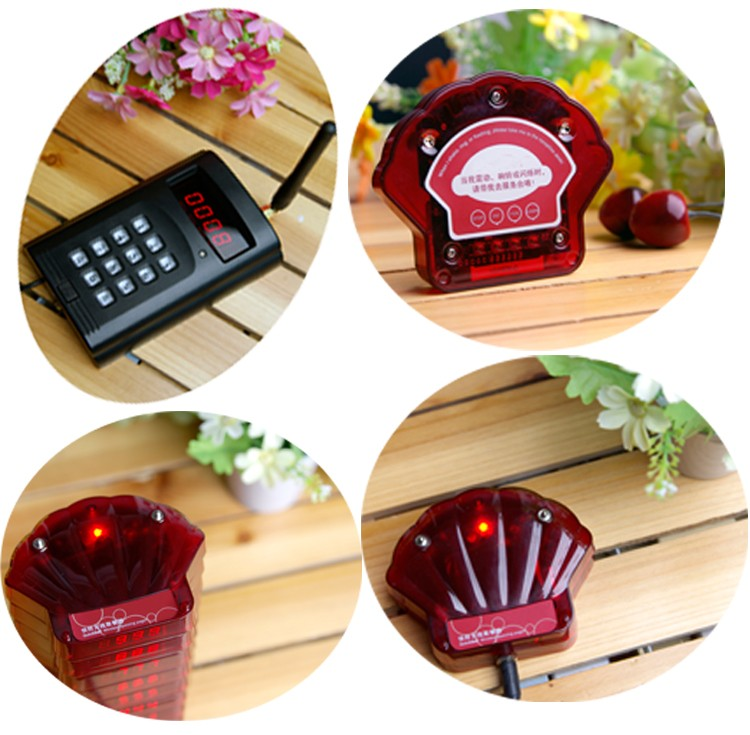 4 wireless restaurant coaster pager