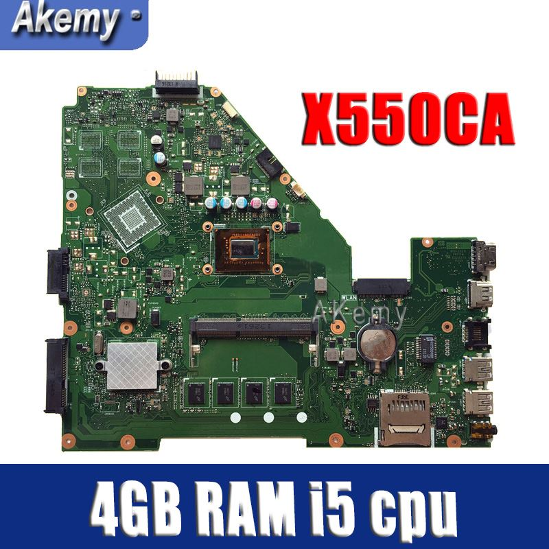 Amazoon  X550CA Laptop motherboard for ASUS X550CA X550CC X550CL R510C Y581C X550C X550 Test original mainboard 4GB RAM i5 cpuAmazoon  X550CA Laptop motherboard for ASUS X550CA X550CC X550CL R510C Y581C X550C X550 Test original mainboard 4GB RAM i5 cpu