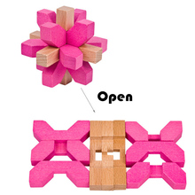 Beech Wood Colorful Locks 3D Wooden Puzzle