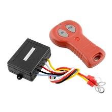 50ft Wireless Winch 12 V Interruptor del Sistema de Control Remoto Para El Carro Del Coche Del Vehículo Negro + Rojo Accesorios de Automóviles