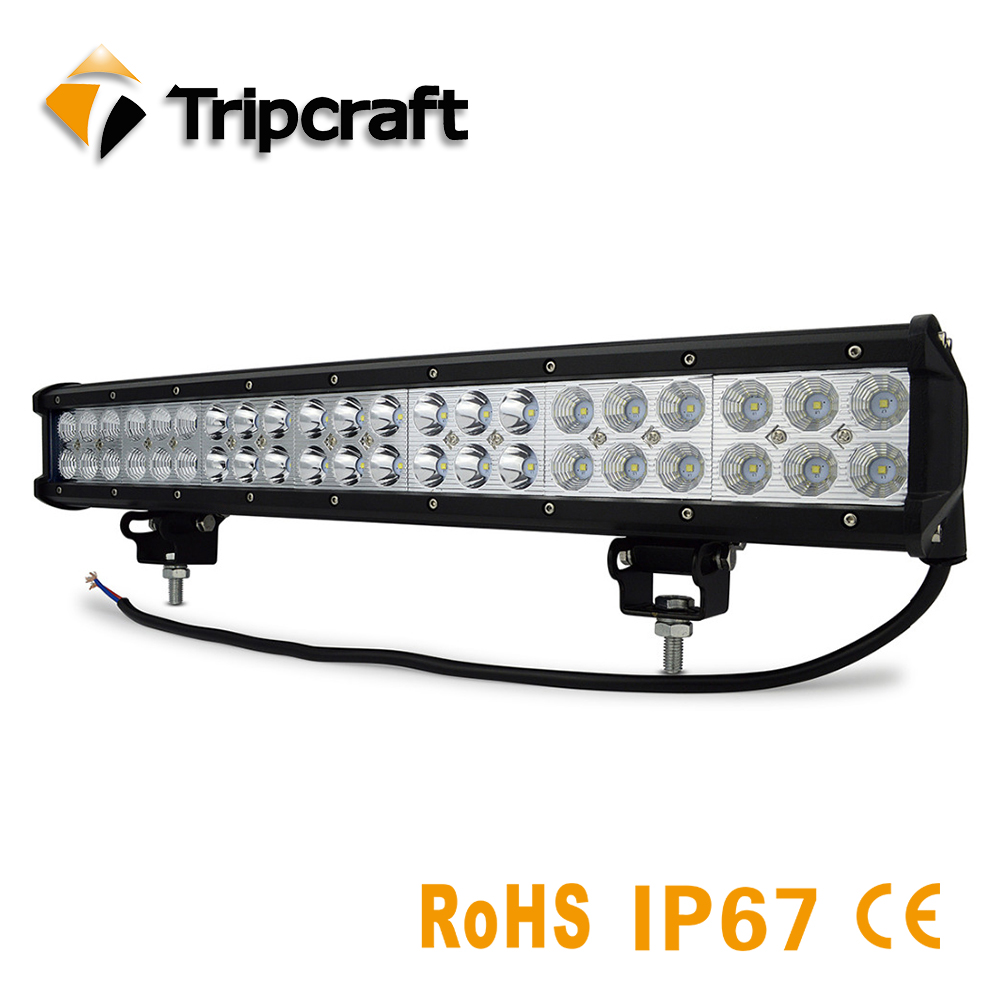 Tripcraft 126W 20inch LED light Bar combo beam offroad led light bar for 12v 24v Boat Tractor Truck 4x4 SUV ATV factory price tripcraft 12000lm car light 120w led work light bar for tractor boat offroad 4wd 4x4 truck suv atv spot flood combo beam 12v 24v