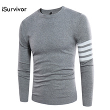 2017 iSurvivor Men Brand Sweaters and Pullovers Male Casual Fashion Fitness Large Size O Neck Knitted Sweaters Hombre Outwear