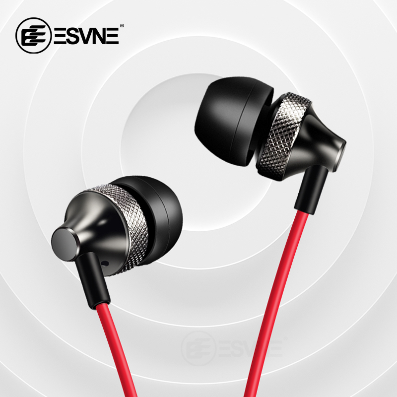 Professional Metal Headphone In Ear Wired Earphone 3.5mm Heavy Bass Sound Quality Music Sport Headset For Computer Phone MP3 image