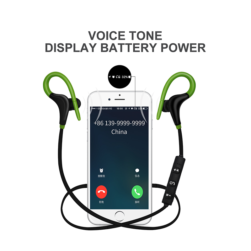 YODELI Bluetooth Headset Wireless Earphones Headphones with Microphone Sport Waterproof Stereo Earbuds for iPhone 8 Mobile Phone