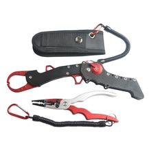 2017 New Multifunctional Aluminium Fishing Pliers+Folding Fishing Grip Stainless Steel Fish Controller Fishing Tackle Tool Set new style folding fishing lip grip fishing gripper fishing tool with light weight aluminium fishing pliers tackle