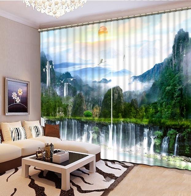 home decor chinese gordijnen foto natuur landschap moderne gordijnen keuken gordijn woonkamer slaapkamer