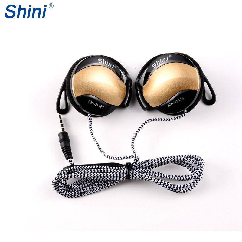 Original Shini Q140S 3.5mm Headset Universal Stereo Earphone Ear Hook Earbuds With Microphone Running Bass Music Audifonos