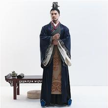 Chivalrous Talented Minister Apparel Film TV Performance Classical Improvement Hanfu Han Dynasty Mens Scholar Official Clothing