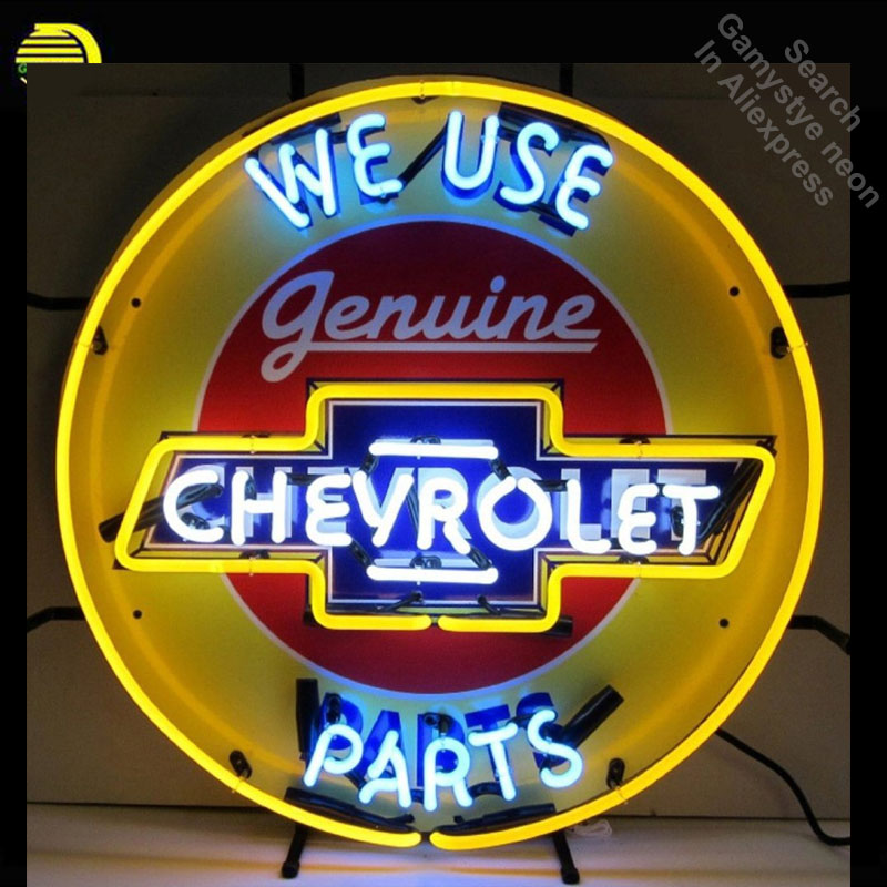 Neon Sign for Chevrolet Neon Bulb sign We use handcraft Glass tubes vintage Decorate windows Beer Bar pub neon lights for sale nao for all we know neon yellow